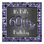 Happy 60th Birthday Party Invitation Personalised