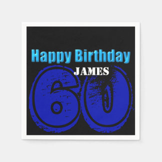 Happy 60th Birthday Personalized Paper Napkins