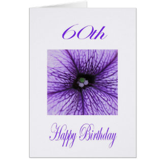 Happy 60th Birthday purple Blossom Card