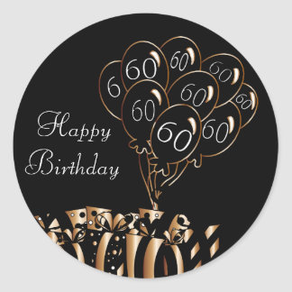 Happy 60th Birthday Round Sticker