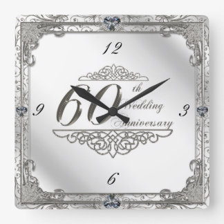 Happy 60th Wedding Anniversary Clock