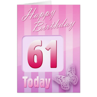 Happy 61st Birthday Grand Mother Great-Aunt Mum Greeting Card