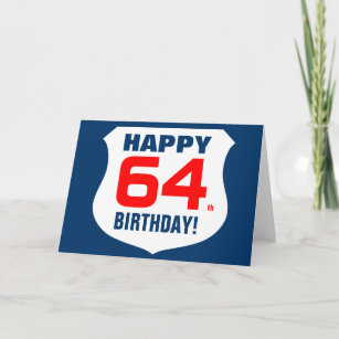 Happy 64th Birthday Card For Men