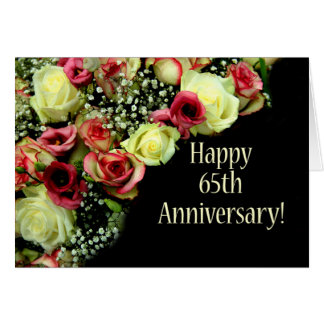 Happy 65th Anniversary roses Card
