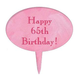 Happy 65th Birthday! Cake Pick