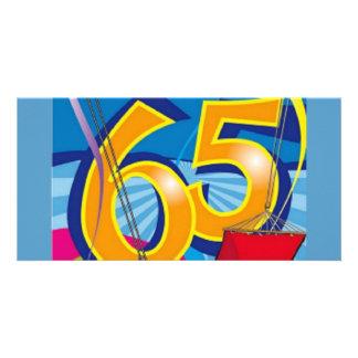 Happy 65th Birthday Customized Photo Card