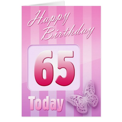 Happy 65th Birthday Grand Mother Great-Aunt Mum Greeting Cards