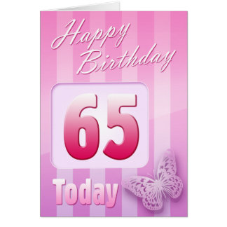 Happy 65th Birthday Grand Mother Great-Aunt Mum Greeting Card