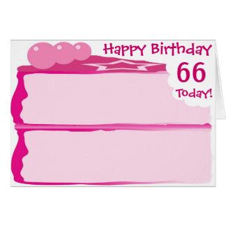 Happy 66th Birthday Card
