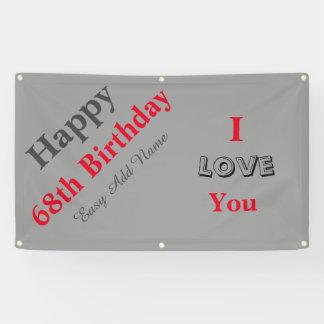 Happy 68th Birthday Banner