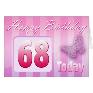 Happy 68th Birthday Grand Mother Great-Aunt Mom Card