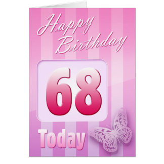 Happy 68th Birthday Grand Mother Great-Aunt Mum Greeting Card