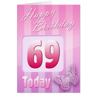 Happy 69th Birthday Grand Mother Great-Aunt Mum Greeting Card
