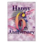 Happy 6th Anniversary  (anniversary card) Card