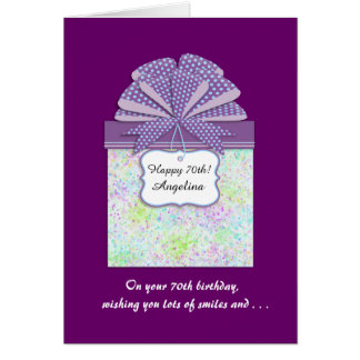 Happy 70th Birthday 3 Panel Greeting Card