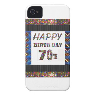 Happy 70th Birthday Case-Mate iPhone 4 Cases