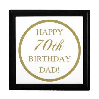 Happy 70th Birthday Dad Large Square Gift Box