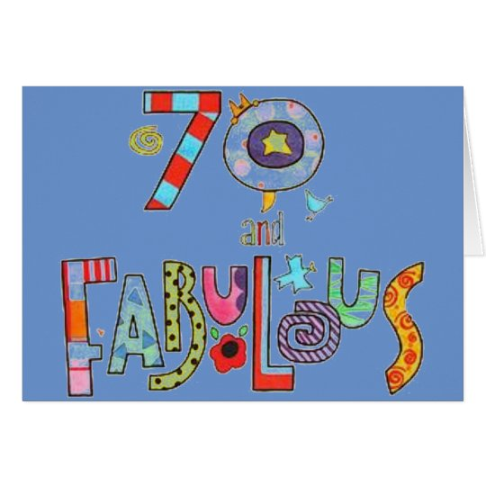 Happy 70th Birthday Fabulous at 70 Card