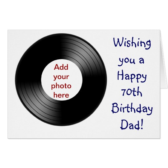 Happy 70th birthday for Dad with vinyl record