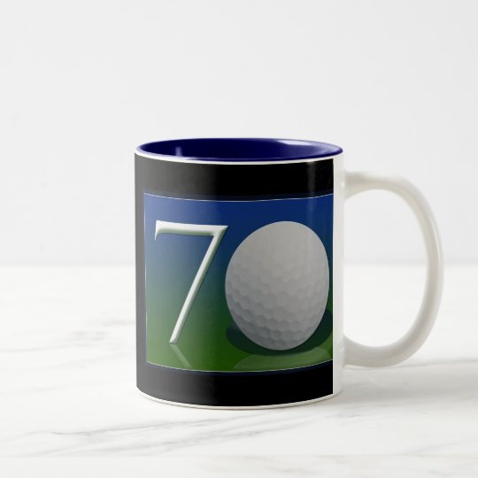 Happy 70th Birthday for golf nut Two-Tone Coffee