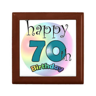 Happy 70th Birthday Jewelry Box