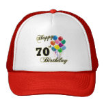 Happy 70th Birthday Gifts and Birthday Apparel Cap