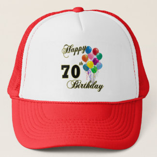 Happy 70th Birthday Gifts and Birthday Apparel Trucker Hat