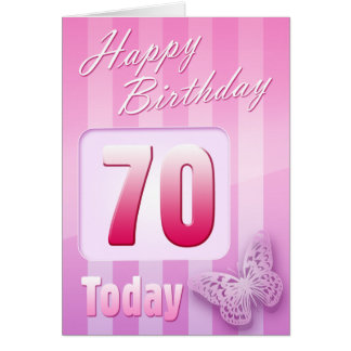 Happy 70th Birthday Grand Mother Great-Aunt Mum Greeting Card