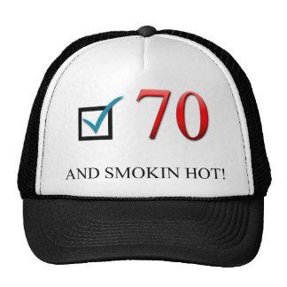 Happy 70th Birthday Mesh Hats