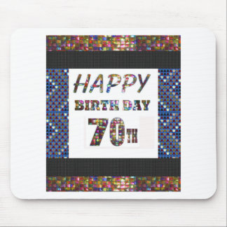 Happy 70th Birthday Mouse Pad
