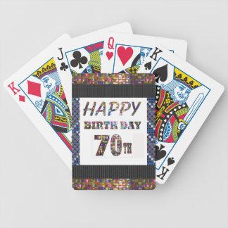Happy 70th Birthday Card Deck