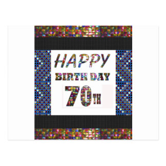 Happy 70th Birthday Postcard