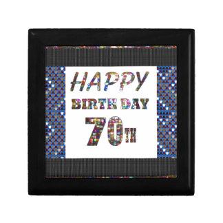 Happy 70th Birthday Small Square Gift Box