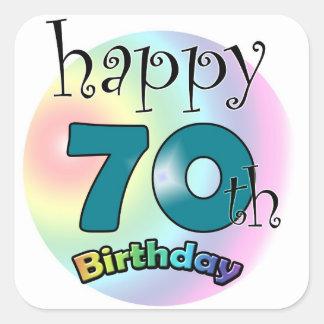 Happy 70th Birthday Square Sticker