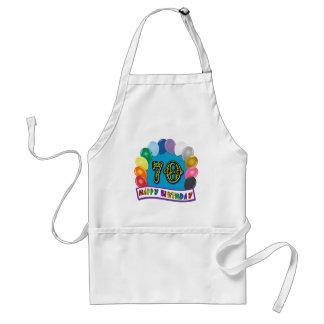 Happy 70th Birthday with Balloons Aprons