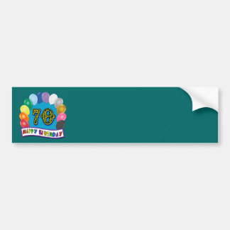 Happy 70th Birthday with Balloons Bumper Sticker