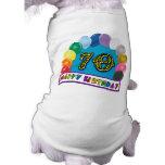 Happy 70th Birthday with Balloons Sleeveless Dog Shirt