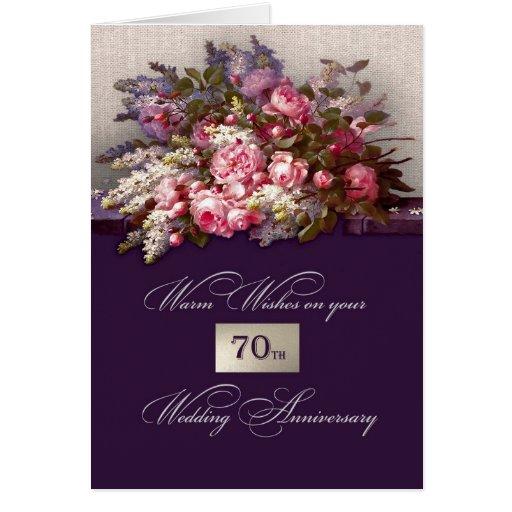 Happy 70th Wedding Anniversary Greeting Cards