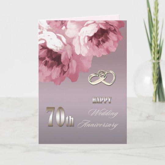 70th Wedding Anniversary.Happy 70th Wedding Anniversary Greeting Cards