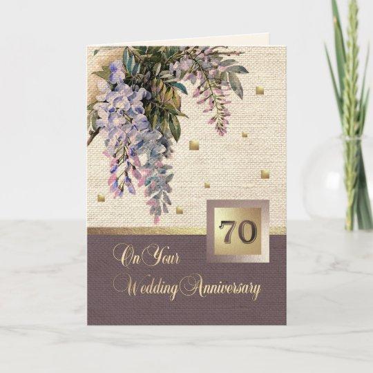 Happy 70th wedding anniversary greeting cards zazzle happy 70th wedding anniversary greeting cards m4hsunfo