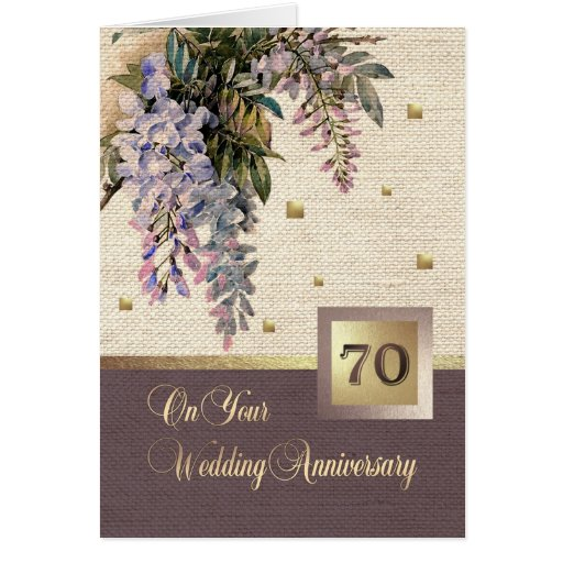 70th Wedding Anniversary Gift: Happy 70th Wedding Anniversary Greeting Cards