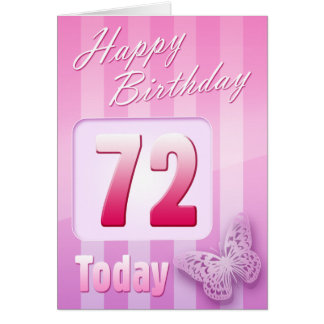 Happy 72nd Birthday Grand Mother Great-Aunt Mum Greeting Card