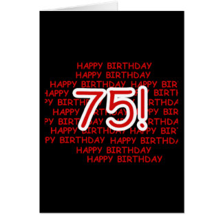 Happy 75th Birthday Greeting Card