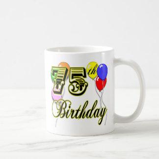 Happy 75th Birthday Celebration Coffee Mug