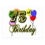 Happy 75th Birthday Celebration Post Cards