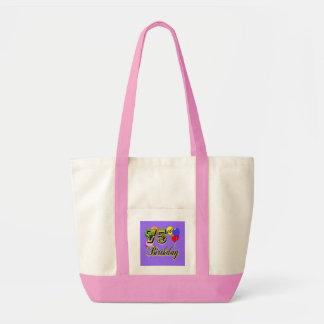 Happy 75th Birthday Celebration Tote Bag