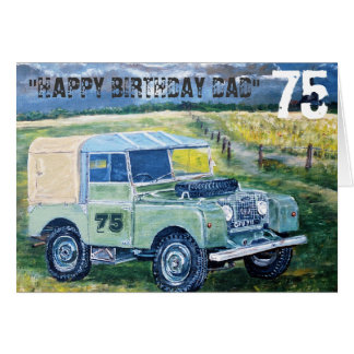 """Happy 75th Birthday Dad"" 75 Greeting Card"