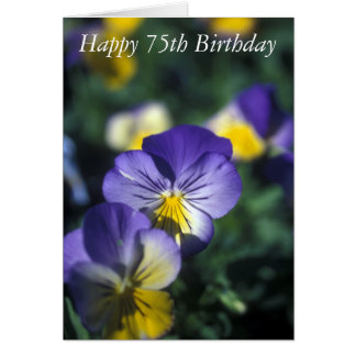 Happy 75th Birthday Flower Card