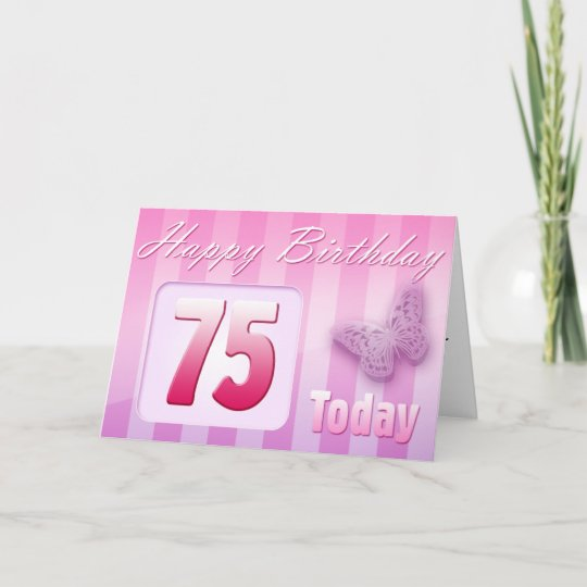 Happy 75th Birthday Grand Mother Great Aunt Mom Card