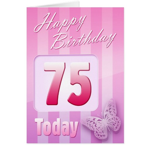 Happy 75th Birthday Grand Mother Great-Aunt Mum Greeting Card